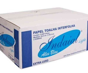PAPEL TOALHA INTER. EX. LUXO INDAIAL LIGHT 22,5 /20,5 /5000